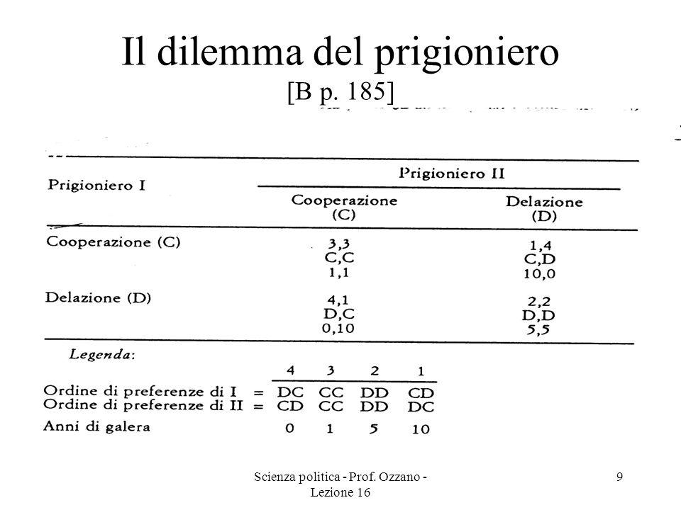 Il dilemma del prigioniero [B p. 185]